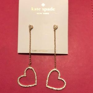 Kate Spade Yours Truly Drop Earrings NWT